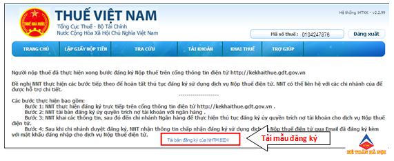 61 Hướng dẫn đăng ký tài khoản nộp tiền thuế qua mạng