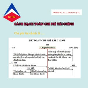 Cách hạch toán tài khoản 635 – Chi phí tài chính theo thông tư 133