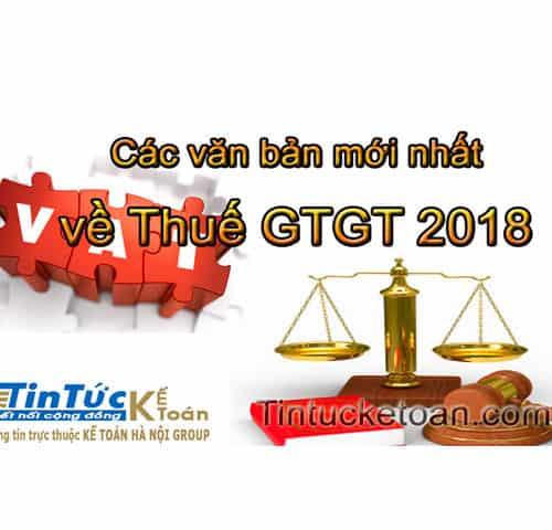 Các văn bản mới nhất về thuế GTGT