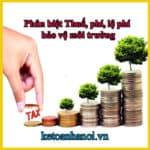 Phân biệt Thuế, phí, lệ phí bảo vệ môi trường