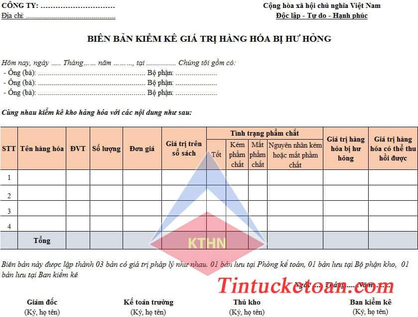 Bộ hồ sơ đối với hàng hóa bị hư hỏng hoặc hết hạn sử dụng