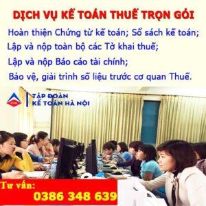 Dịch vụ kế toán thuế trọn gói tại Thanh Trì Hà Nội